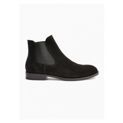 Mens Selected Homme Black Suede Louis Suede Chelsea Boots, Black