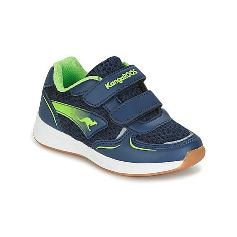 Kangaroos ROJI V boys's Children's Shoes (Trainers) in Blue