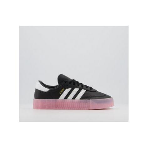 Adidas Samba Rose Trainers BLACK WHITE TRUE PINK