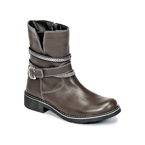 Citrouille et Compagnie HASU girls's Children's Mid Boots in Grey