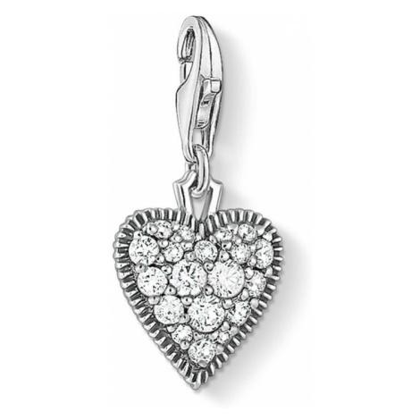 THOMAS SABO Silver Vintage Heart Charm