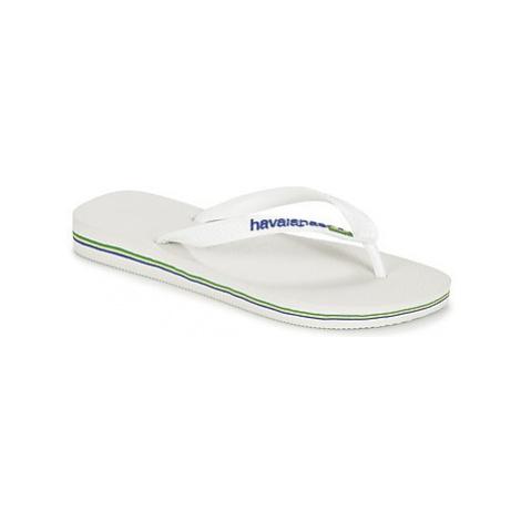 Havaianas BRASIL LOGO women's Flip flops / Sandals (Shoes) in White