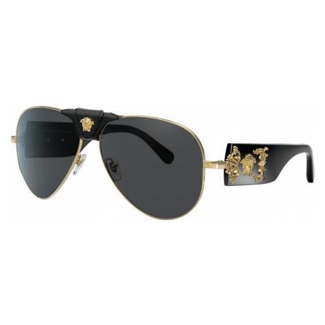 Versace Man VE2150Q - Frame color: Gold, Lens color: Grey-Black, Size 62-14/140