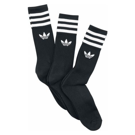 Adidas - Solid Crew Sock 3 Pack - Socks - black-white