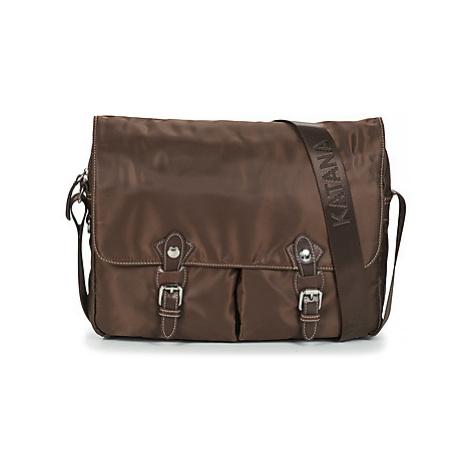 Katana YOULIZ men's Messenger bag in Brown