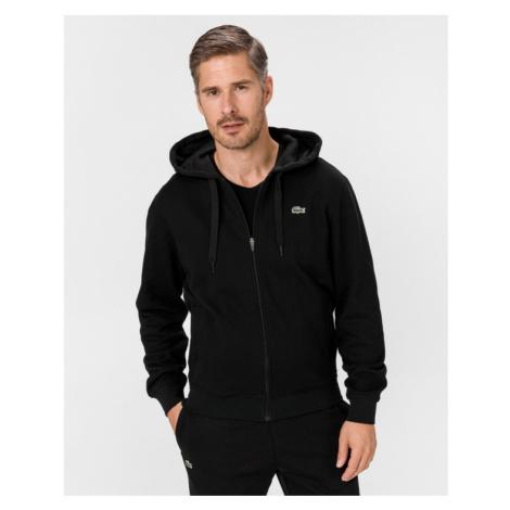 Lacoste Sport Hooded Lightweight Bi-material Sweatshirt Black