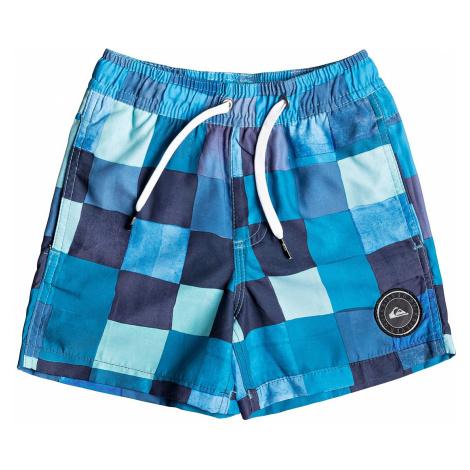 swimming shorts Quiksilver Resin Check Volley 12 - BMA6/Malibu - kid´s