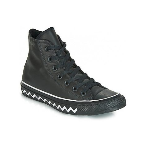 Converse CHUCK TAYLOR ALL STAR VLTG MONO LEATHER HI women's Shoes (High-top Trainers) in Black