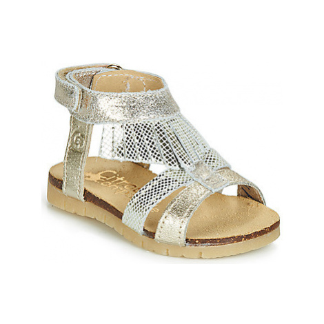 Citrouille et Compagnie JARILOUTA girls's Children's Sandals in Silver