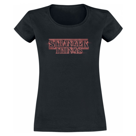 Stranger Things - Neon Logo - Girls shirt - black