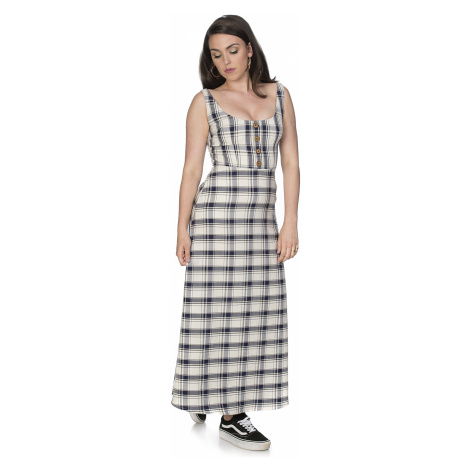 Banned Retro - Romance Me Check Dress - Dress - blue-white