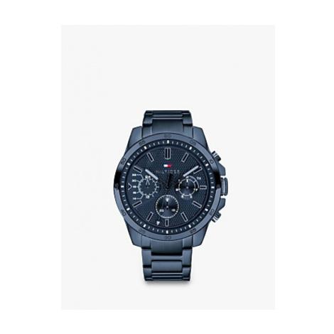 Tommy Hilfiger 1791560 Men's Chronograph Bracelet Strap Watch, Blue