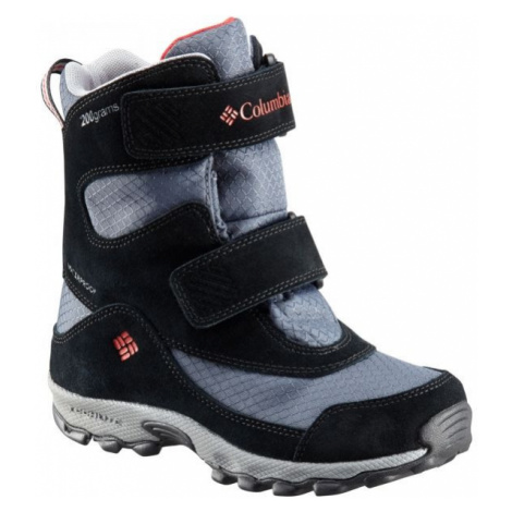 Columbia YOUTH PARKERS PEAK VELCRO BOOT grey - Kids' winter shoes