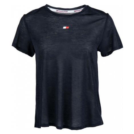Tommy Hilfiger PERFORMANCE LBR TOP dark blue - Women's T-shirt