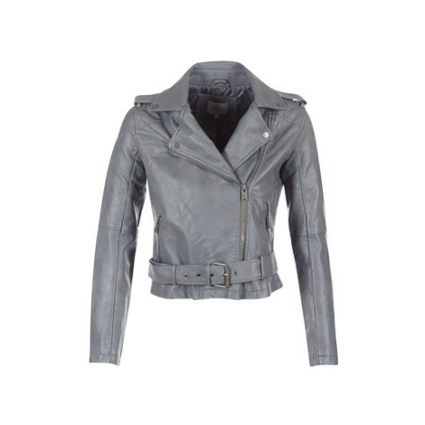Pepe jeans NINEL women's Leather jacket in Grey