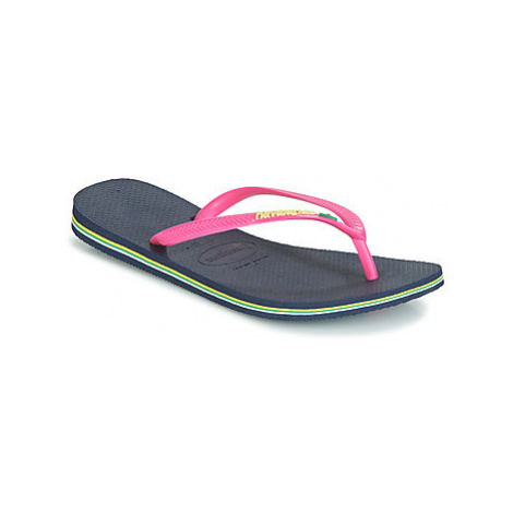Havaianas SLIM BRASIL LOGO women's Flip flops / Sandals (Shoes) in multicolour