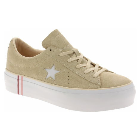 shoes Converse One Star Platform Seasonal Suede OX - 565377/Light Bisque/White/White - women´s