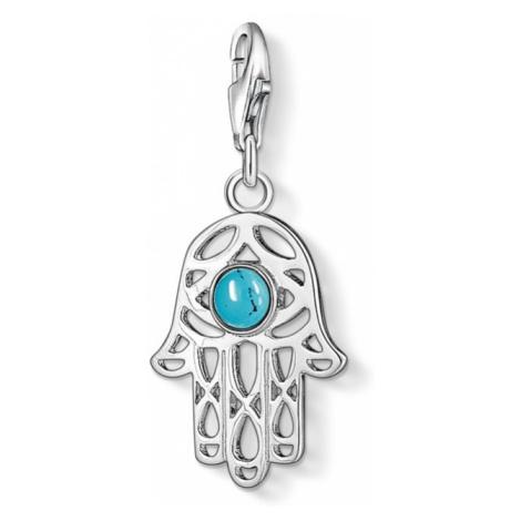 Ladies Thomas Sabo Sterling Silver Charm Club Hand Of Fatima Charm 1052-404-17