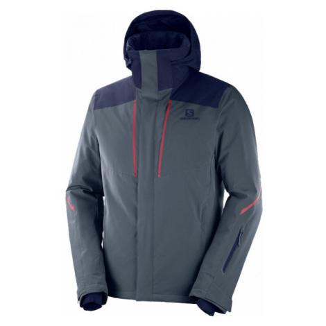 Salomon STORMSEASON JKT gray - Men's ski jacket