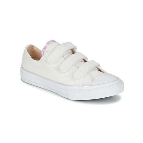 Converse CHUCK TAYLOR ALL STAR 3V METALLIC OX girls's Children's Shoes (Trainers) in White