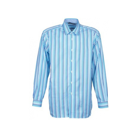 Pierre Cardin 538036745-116 men's Long sleeved Shirt in Blue