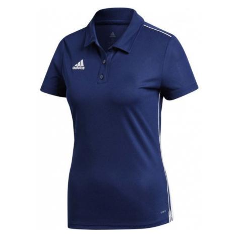 adidas CORE18 POLO W dark blue - Women's sports polo shirt