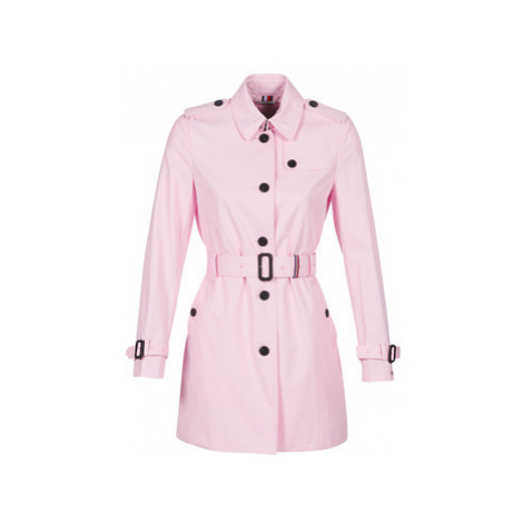 Tommy Hilfiger SEASONAL SB TRENCH women's Trench Coat in Pink