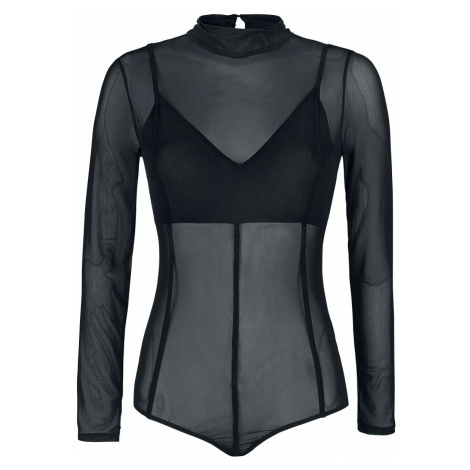 Black Premium by EMP Black Semi-Transparent Body with Bralette and Decorative Seams Body black