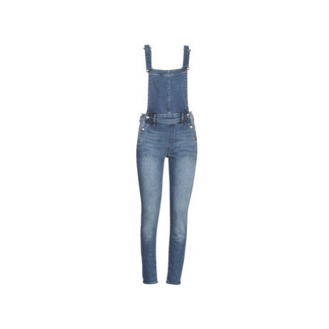 G-Star Raw LYNN HIGH SLIM NAVY OVERALL women's Jumpsuit in Blue