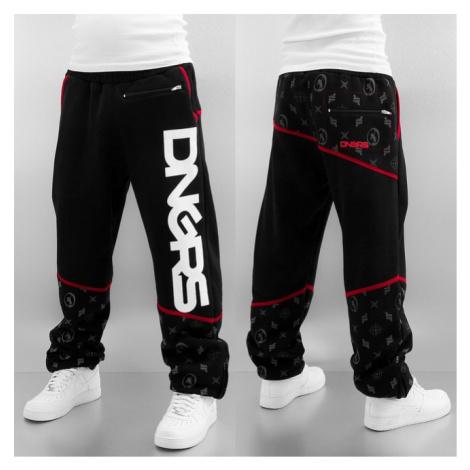 Dangerous DNGRS Crosshair Sweat Pants Jet Black/Chili Pepper