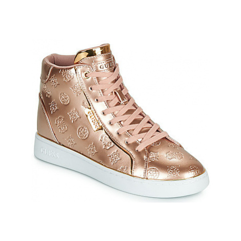 Guess BRINA women's Shoes (High-top Trainers) in Pink