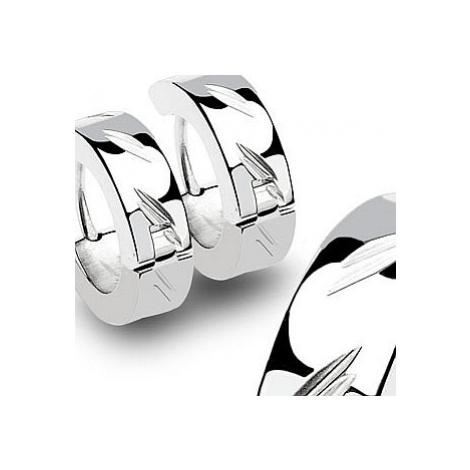 earrings Body Art SSE - 005/Diacut Hinged Hoop