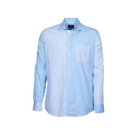 Hackett GORDON men's Long sleeved Shirt in Blue