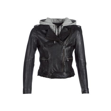 Oakwood TRACY women's Leather jacket in Black