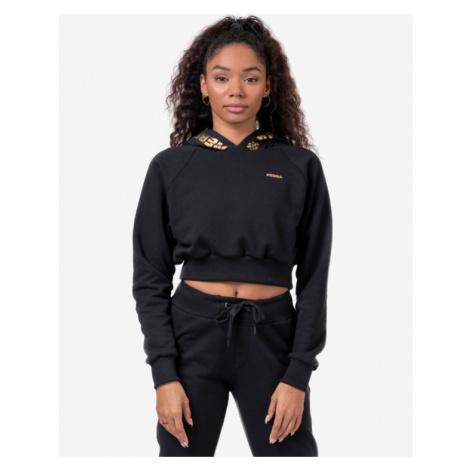 Nebbia Golden Cropped 824 Sweatshirt Black