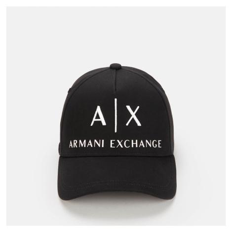 Armani Exchange Men's AX Logo Cap - Black/White