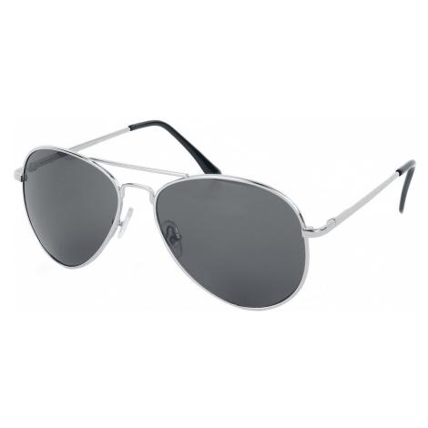 Shiny Silver Aviators Sunglasses silver coloured