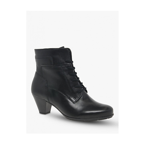 Gabor National Leather Lace Up Ankle Boots, Black