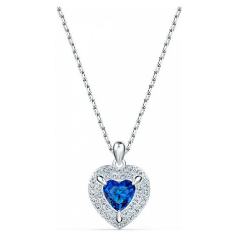 Swarovski Sapphire Crystal Heart Necklace