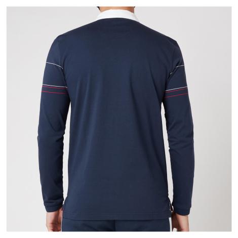 BOSS Athleisure Men's Plisy 1 Longsleeve Polo Shirt - Navy Hugo Boss
