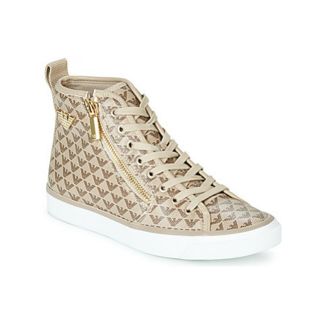 Emporio Armani X3Z017-XM066-R550 women's Shoes (High-top Trainers) in Beige