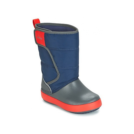 Crocs LODGEPOINT SNOW BOOT K girls's Children's Snow boots in Blue