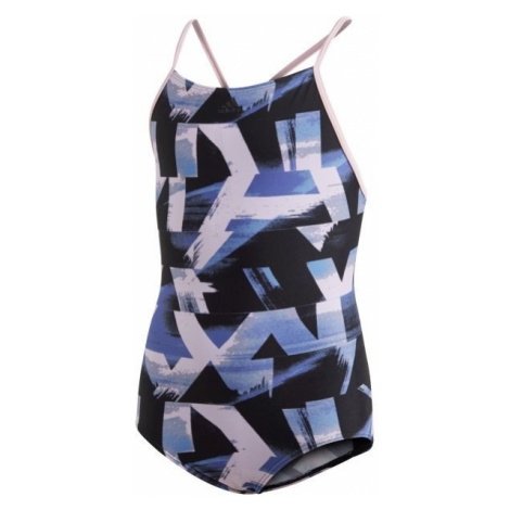 adidas ALLOVER PRINT SWIMSUIT GIRLS black - Girls' one-piece swimsuit