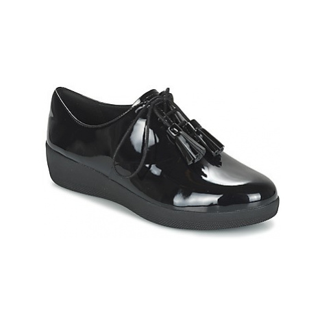 FitFlop CLASSIC TASSEL SUPEROXFORD women's Shoes (Trainers) in Black