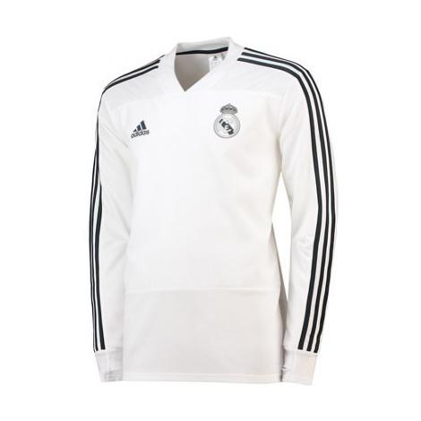 Real Madrid Training Top - White Adidas
