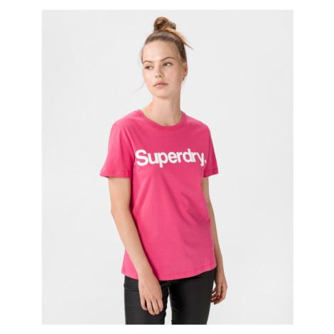 SuperDry Flock T-shirt Pink