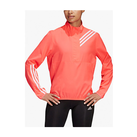 Adidas Run It 3-Stripes Women's Running Anorak, Signal Pink
