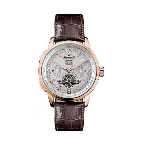 Ingersoll Men's The Regent Automatic Chronograph Date Heartbeat Leather Strap Watch