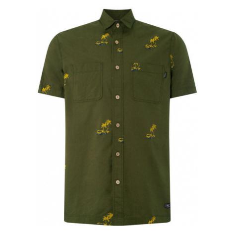 O'Neill LM PALM AOP S/SLV SHIRT dark green - Men's shirt