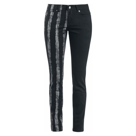 Forplay - Striped Leg Stretch Denim - Girls jeans - black